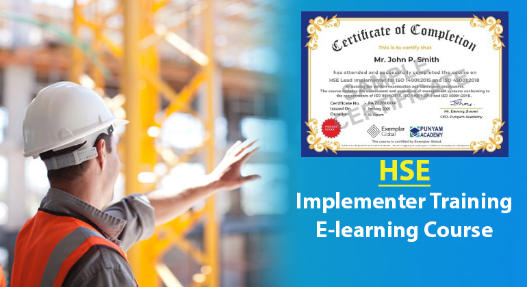 HSE Lead Implementer for ISO 14001:2015 and ISO 45001:2018