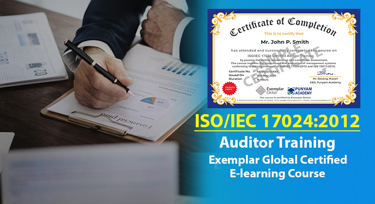 ISO/IEC 17024 Certified Internal Auditor Training