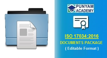 ISO 17034:2016 Documentation Kit with Manual, Procedures, Forms and Checklists