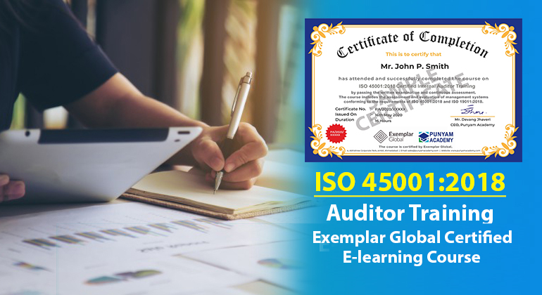 ISO 45001:2018 Certified Internal Auditor Training