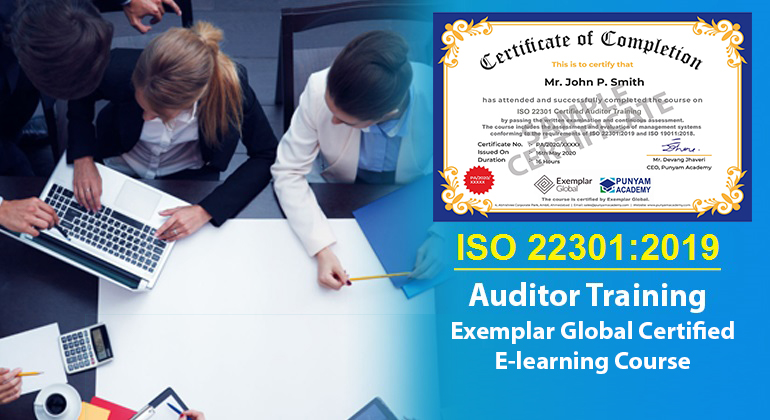 ISO 22301 Certified Auditor Training