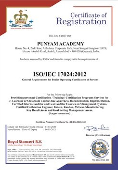 ISO/IEC 17024 Accredited - Punyam Academy